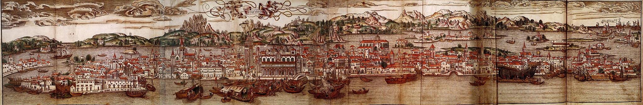 Karte von Venedig im 15. Jahrhundert