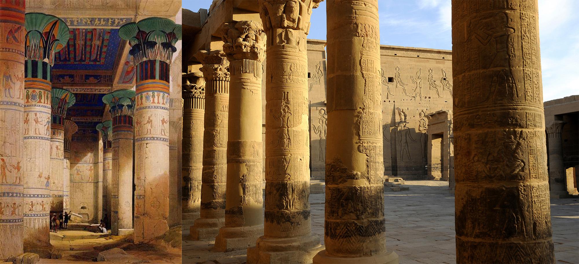 Philae-Isistempel-Säulenhalle