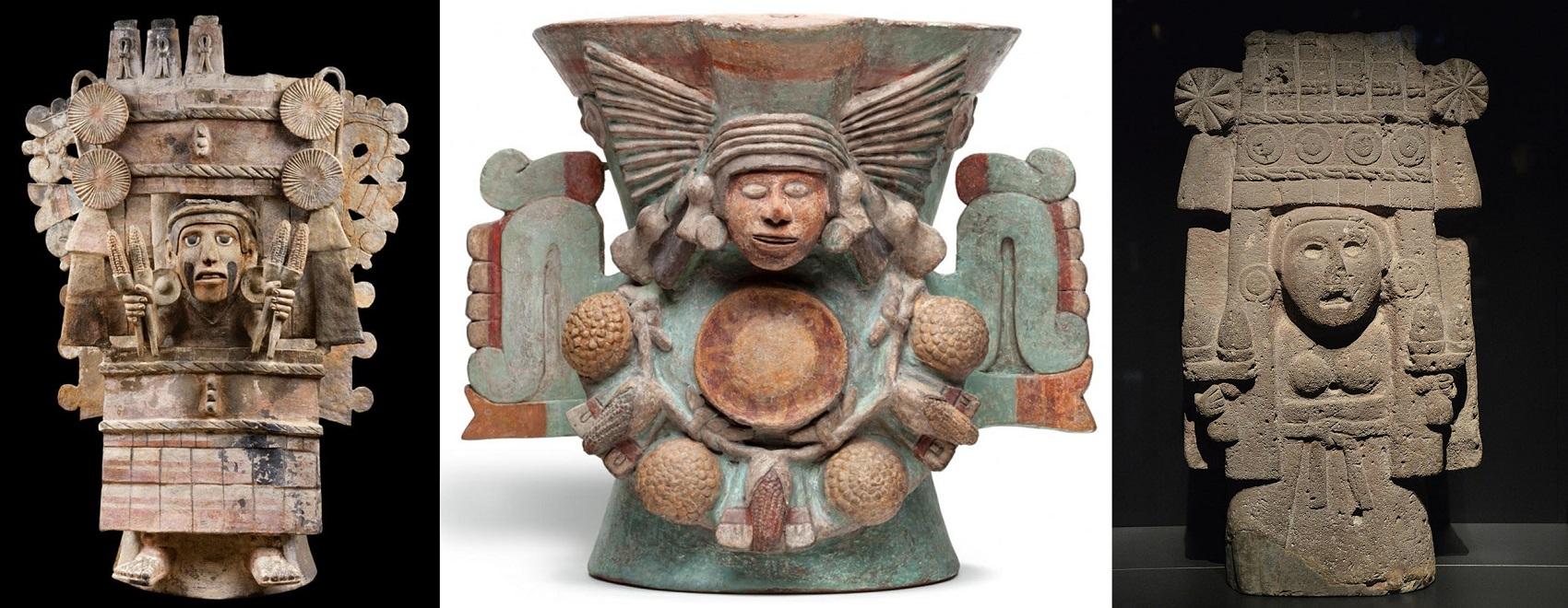 Aztekische Maisgöttinnen