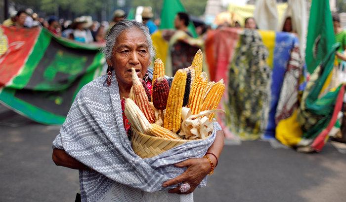 Mexica mit buntem Mais