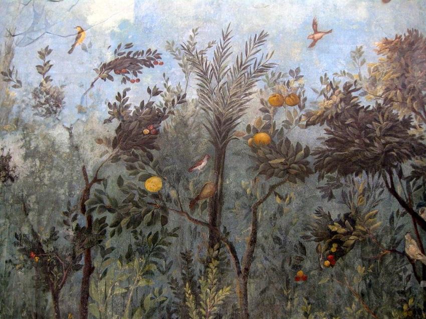 Gartenfresko aus der Casa di Livia