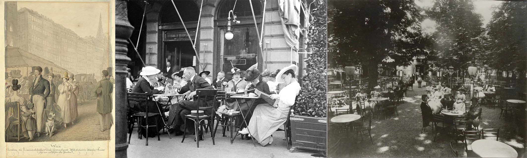 Taronis Limonadezelt am Graben - Schanigärten um 1900